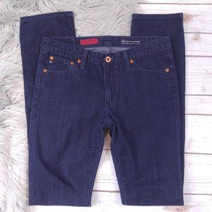 AG Premiere Dark Wash Skinny Straight Jeans
